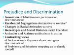 prejudice and discrimination21