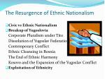 the resurgence of ethnic nationalism