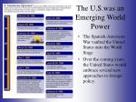 the u s was an emerging world power