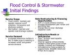 flood control stormwater initial findings