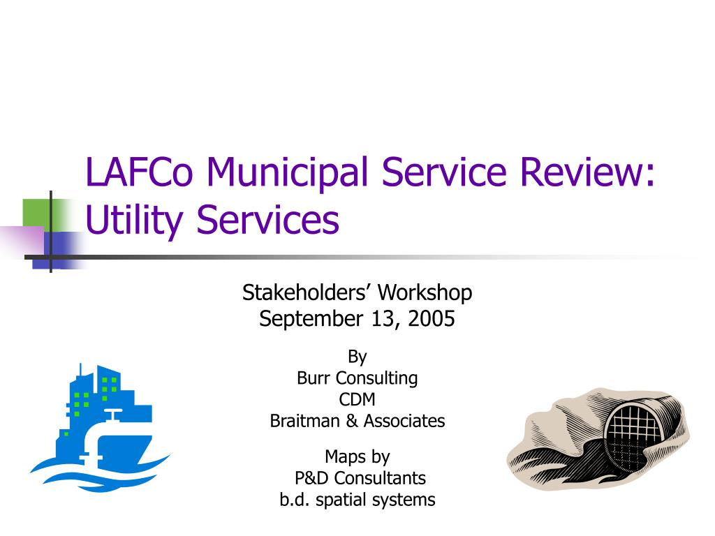 lafco municipal service review utility services l.