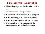 city growth annexation