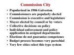 commission city