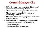 council manager city