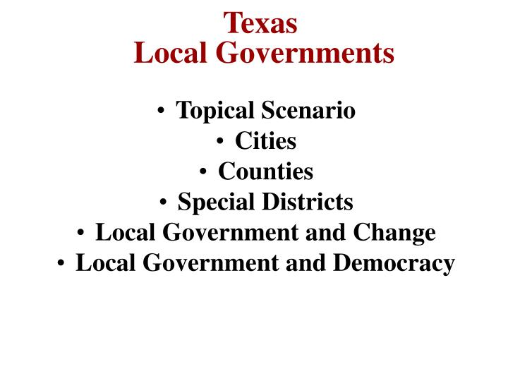 texas local governments n.