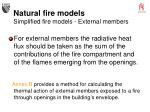 natural fire models simplified fire models external members