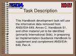 task description
