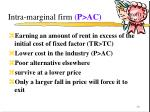 intra marginal firm p ac