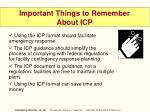 important things to remember about icp