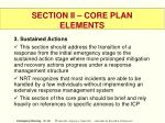 section ii core plan elements31