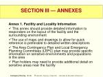 section iii annexes