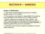 section iii annexes35