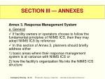 section iii annexes38