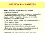 section iii annexes39