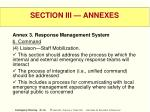 section iii annexes43