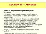 section iii annexes46