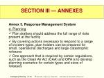 section iii annexes47