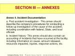 section iii annexes55