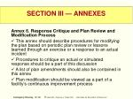 section iii annexes57
