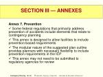 section iii annexes58