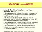 section iii annexes59