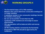 working groups ii