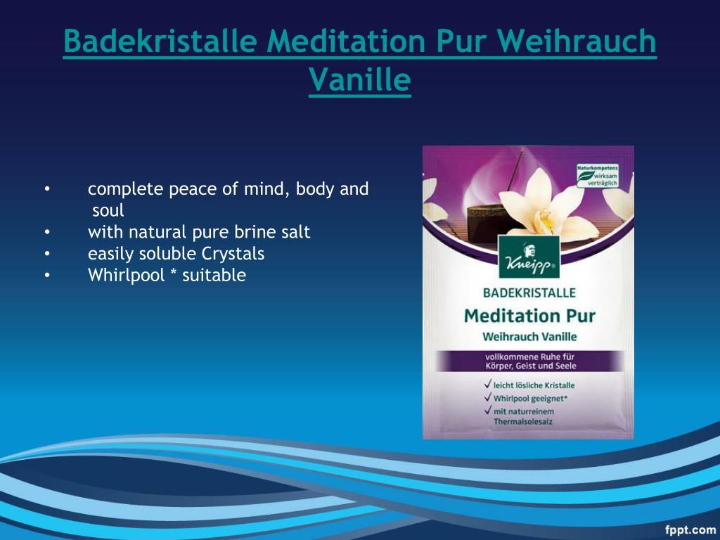 Badekristalle Meditation Pur Weihrauch Vanille