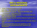 imo regional developments