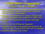 intertanko s suggestions solutions for the revision