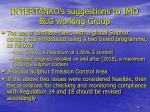 intertanko s suggestions to imo blg working group