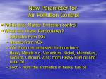 new parameter for air pollution control