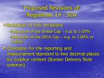 proposed revisions of regulation 14 sox