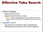 effective tabu search