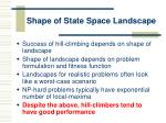 shape of state space landscape