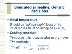simulated annealing generic decisions