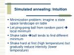 simulated annealing intuition