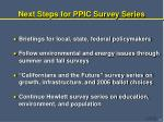 next steps for ppic survey series
