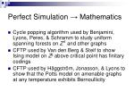 perfect simulation mathematics