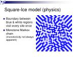 square ice model physics
