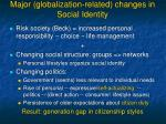 major globalization related changes in social identity