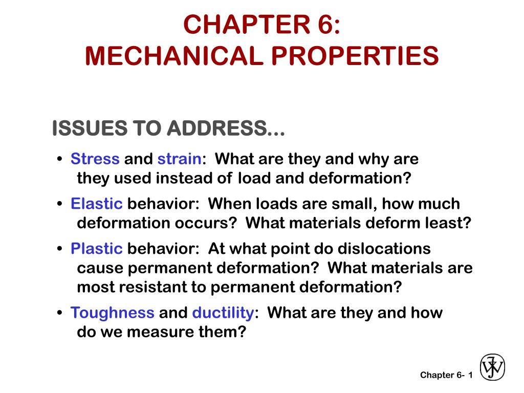 chapter 6 mechanical properties l.