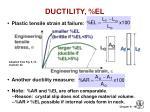 ductility el