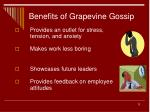 benefits of grapevine gossip