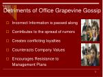 detriments of office grapevine gossip