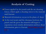 analysis of cutting