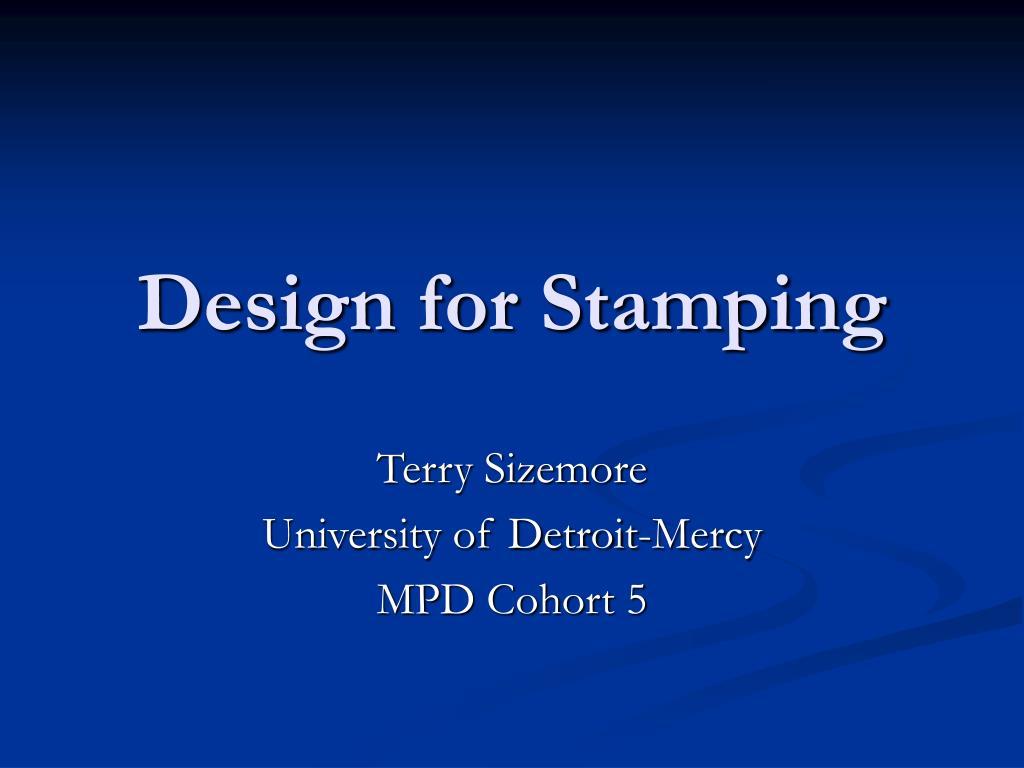 design for stamping l.