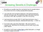 annealing benefits challenges