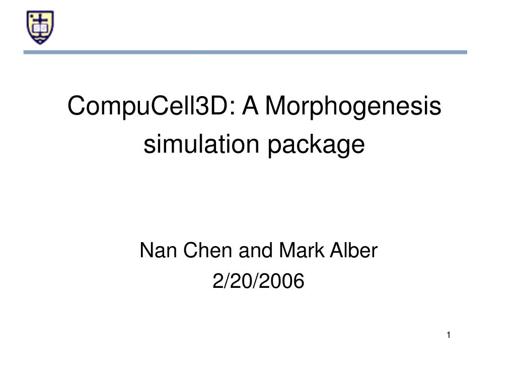 compucell3d a morphogenesis simulation package l.
