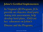 johne s certified implementers