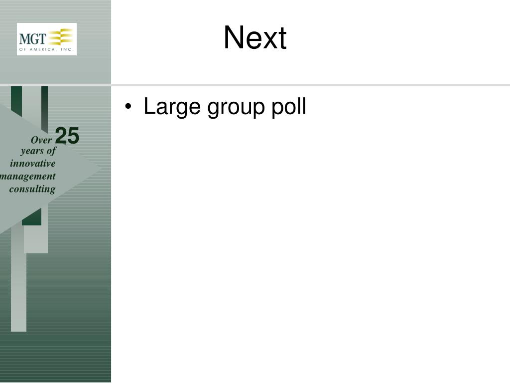 Large group poll